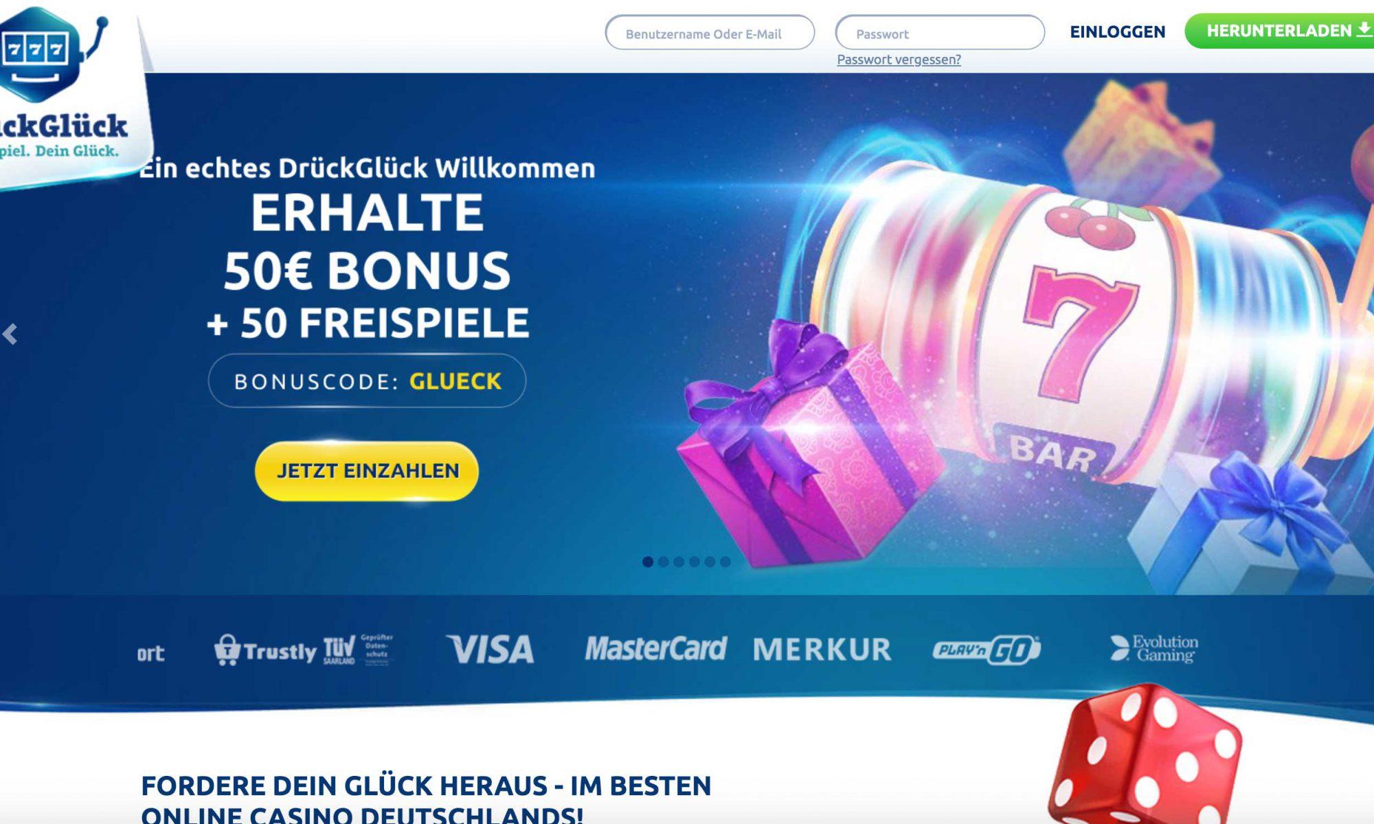 DrückGlück Homepage