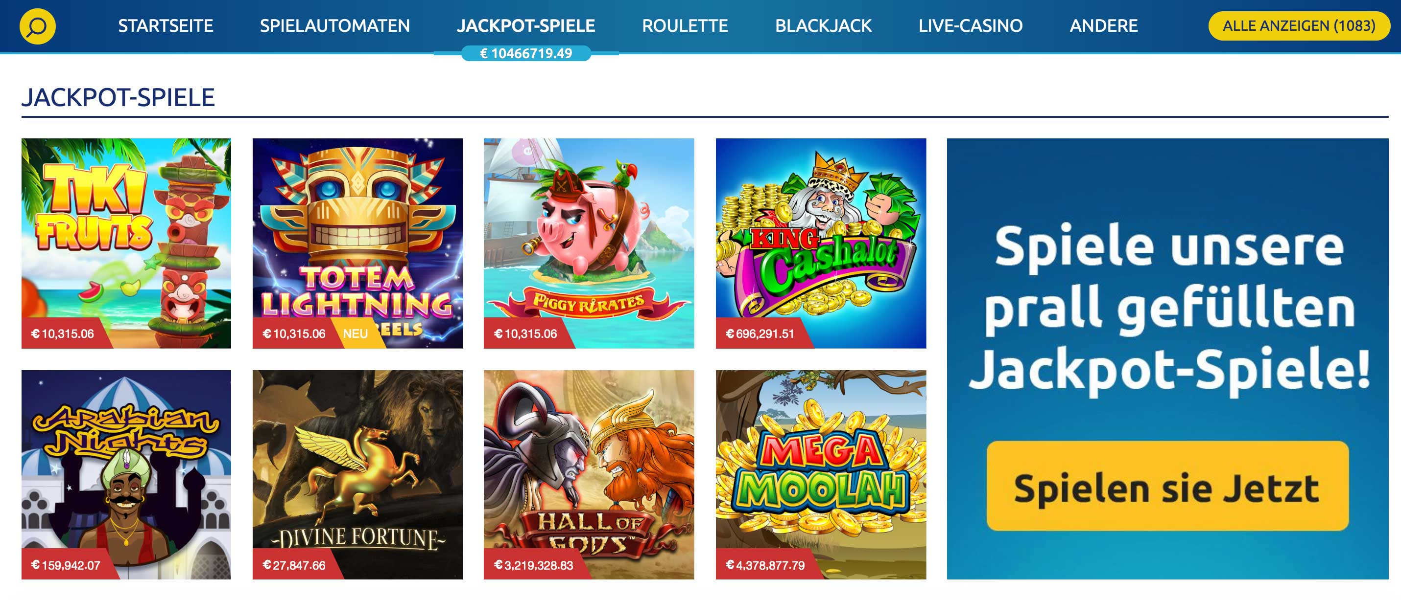DrückGlück progessive Jackpot Slots