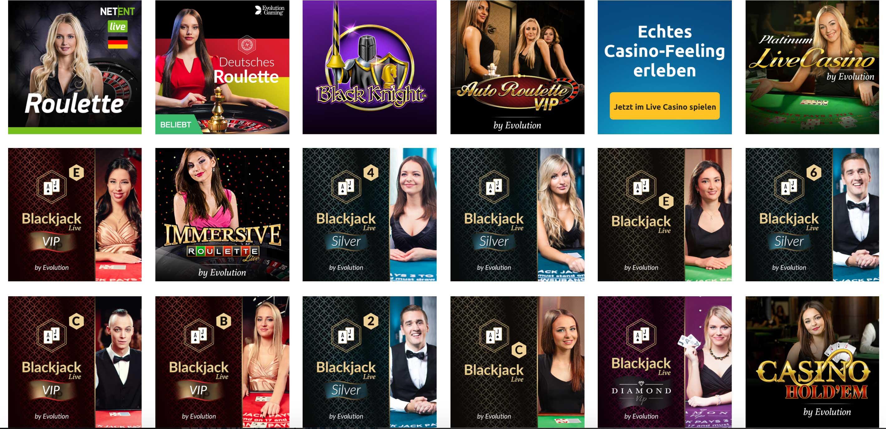 DrückGlück Live Dealer Spiele im Live Casino