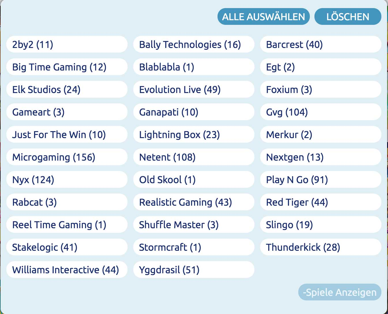 DrückGlück Spiele Software
