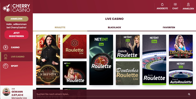 Cherry Casino Live Casino