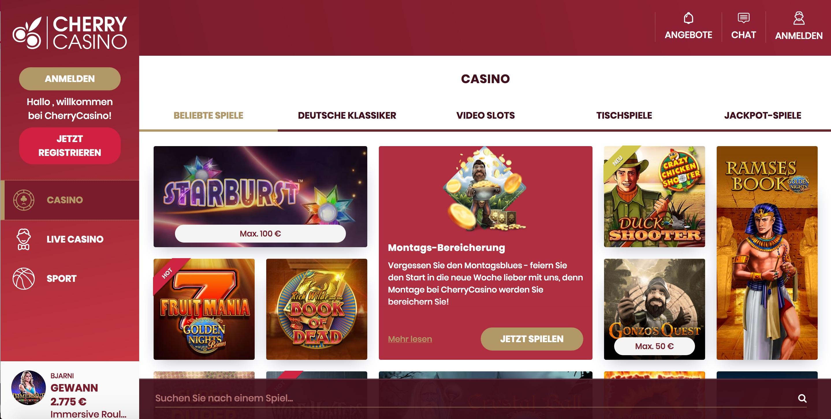 Cherry Casino Spiele