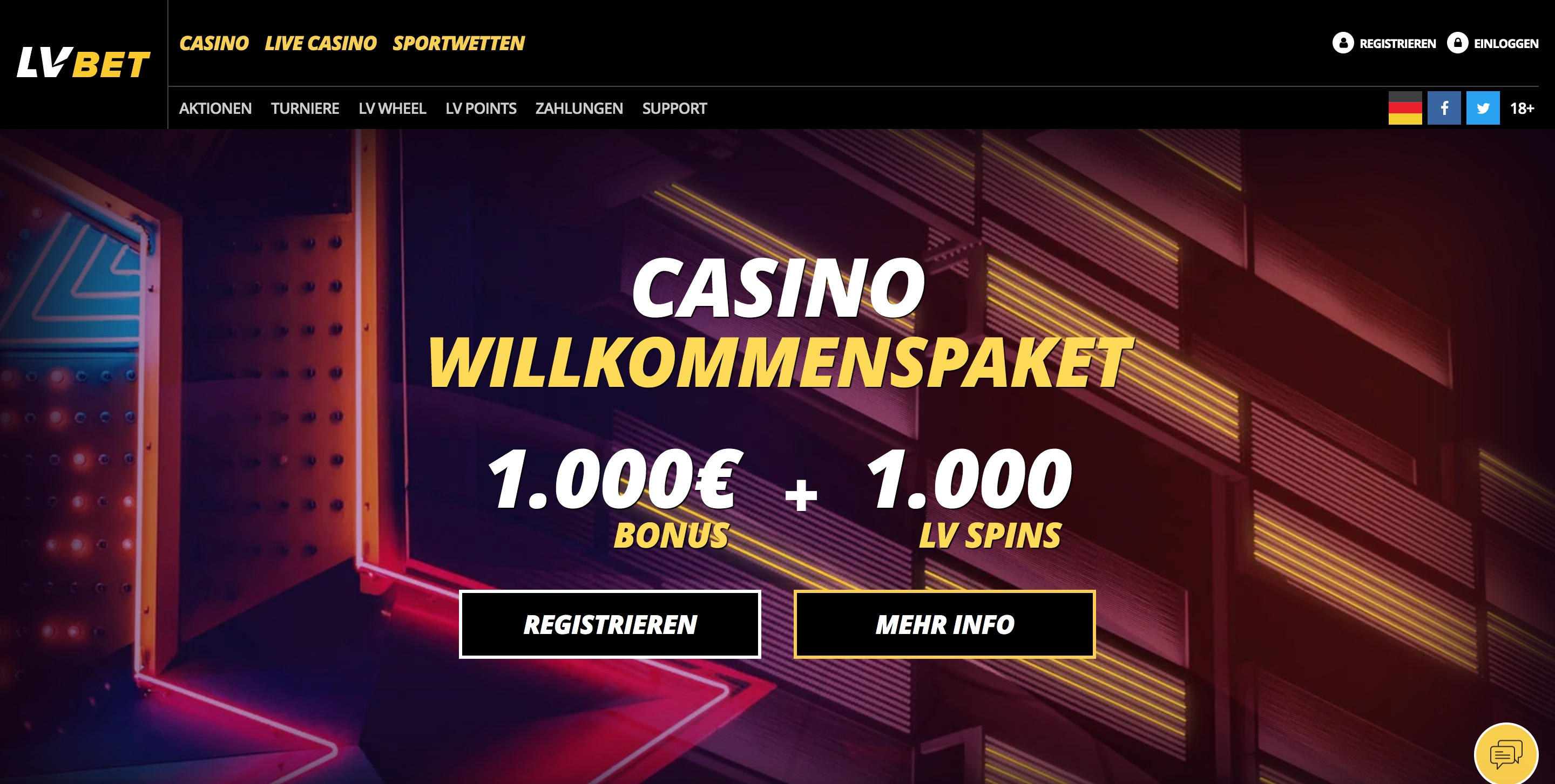 LVBet Homepage