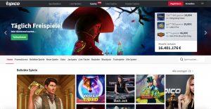 Tipico Casino Homepage