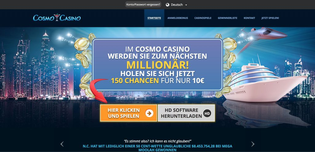 Cosmo Casino Website
