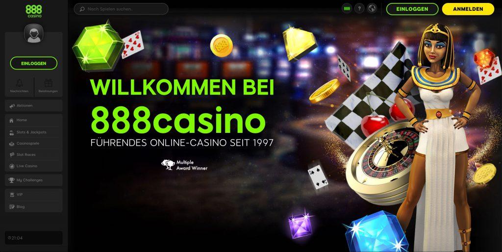 888 Casino Webseite
