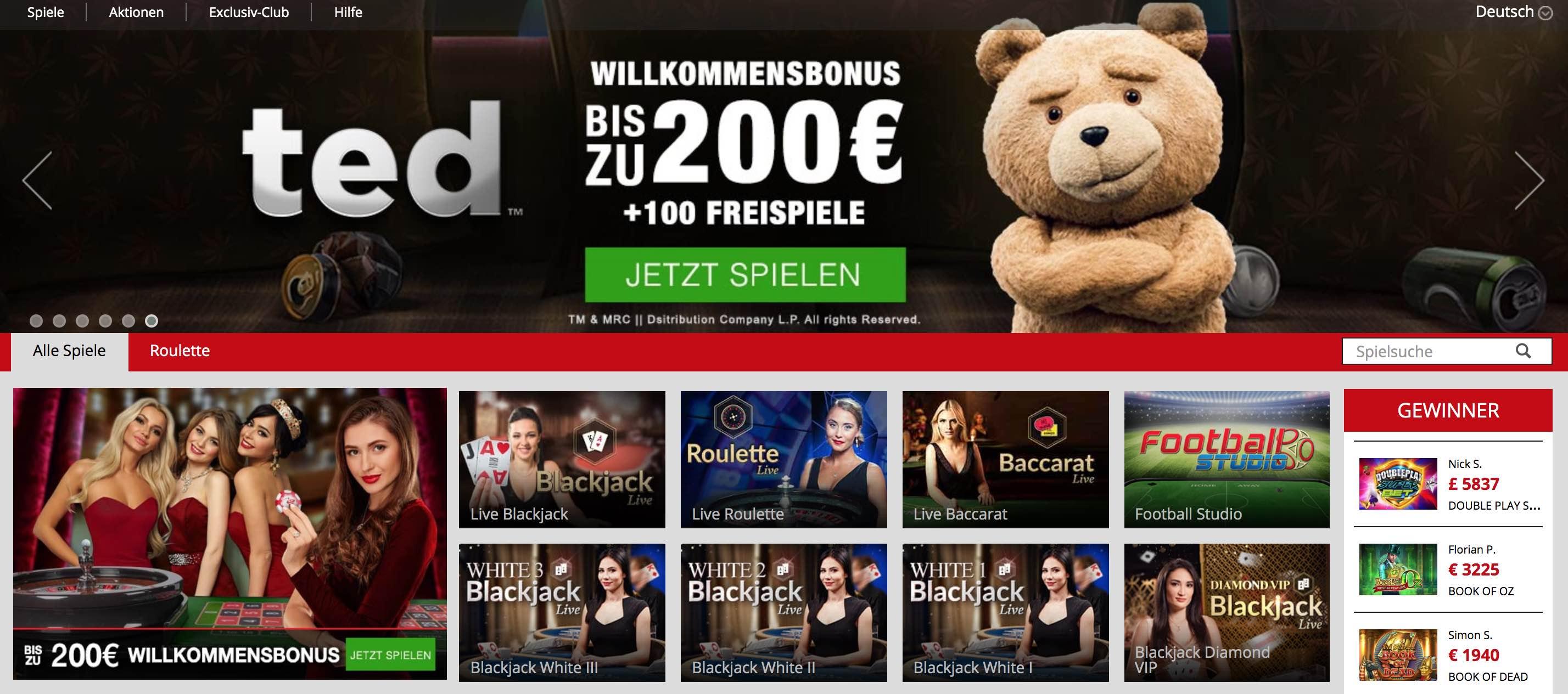 Live Casino - Dealer Spiele