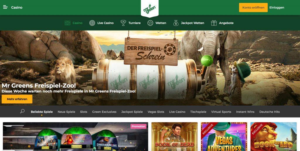 Mr Green Webseite