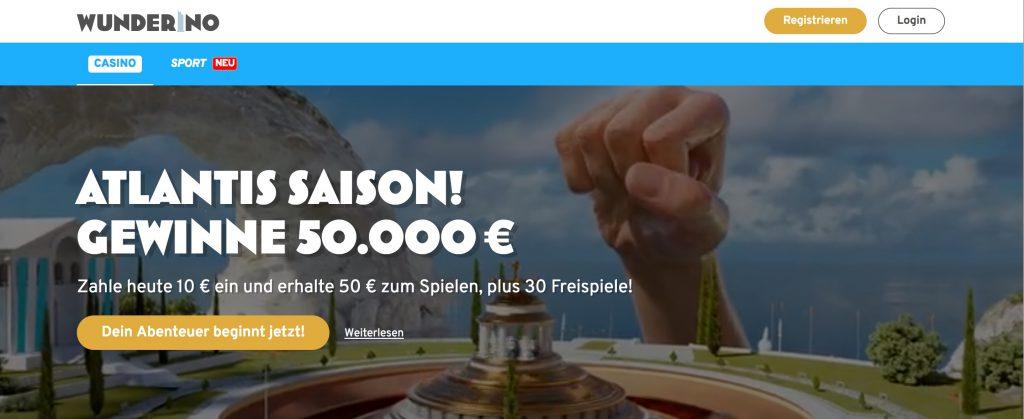 Wunderino Webseite