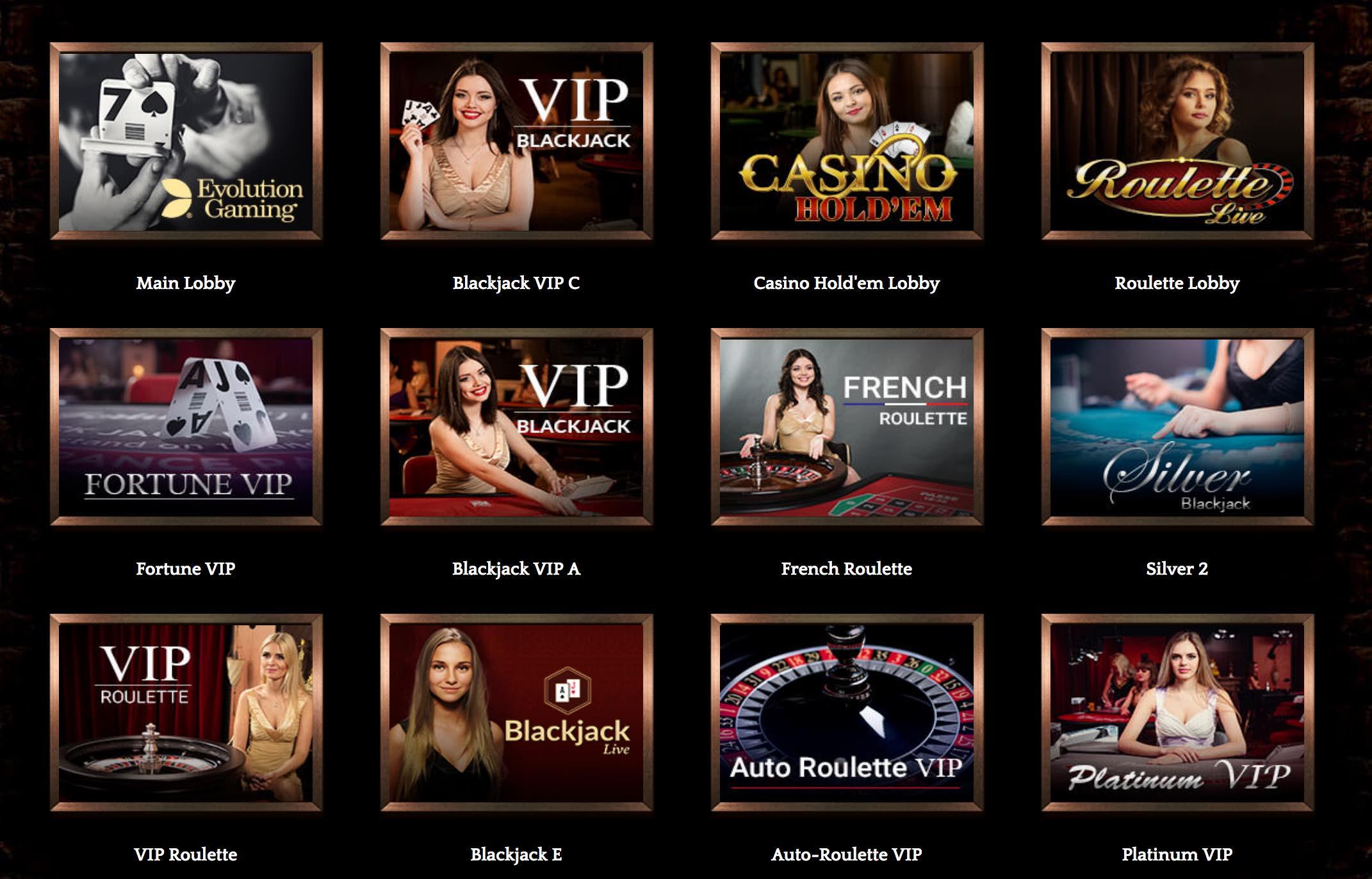 Live Dealer Spiele im Bronze Live Casino