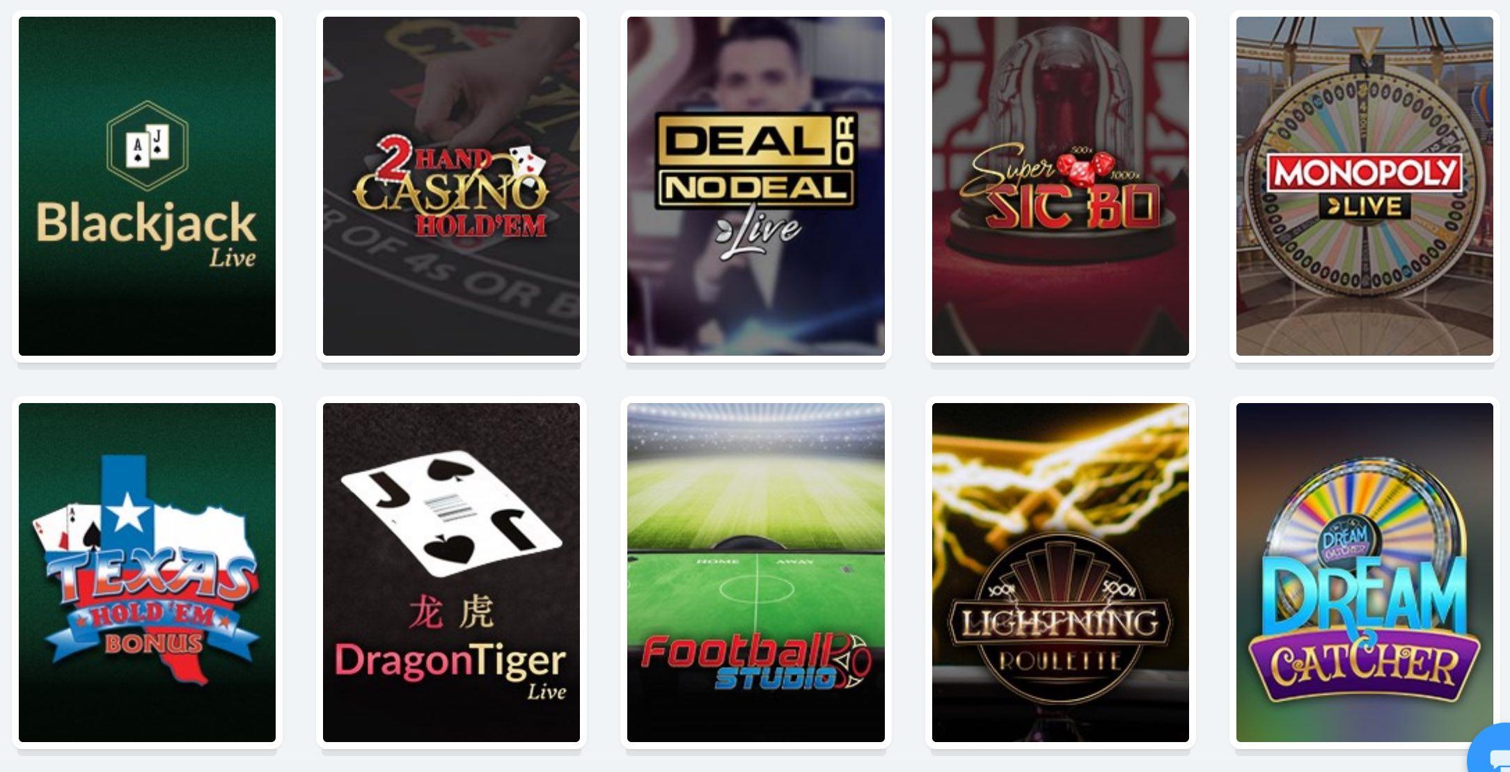 Casilando Live Dealer Spiele