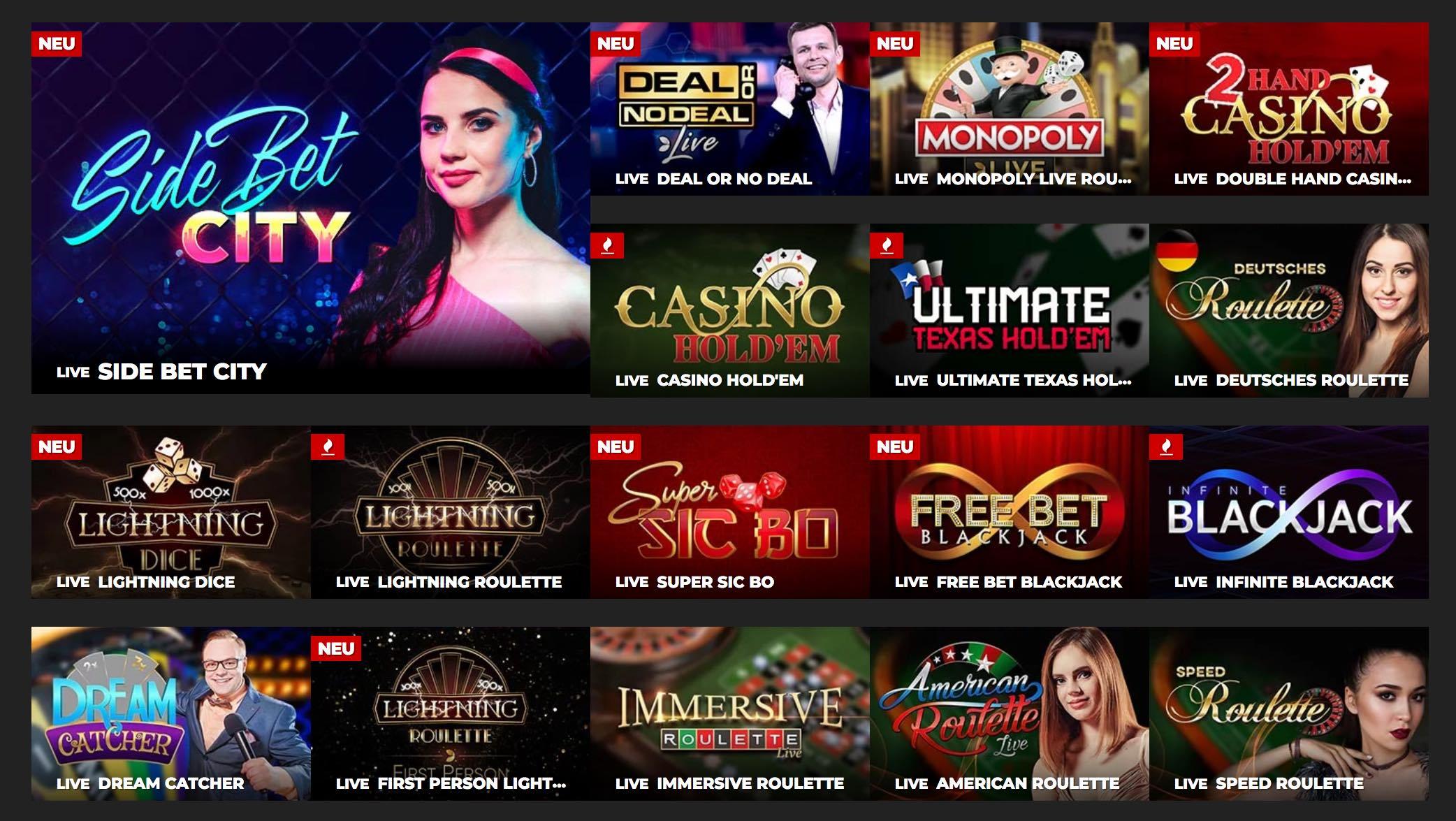 Live Casino - Live Dealer Spiele
