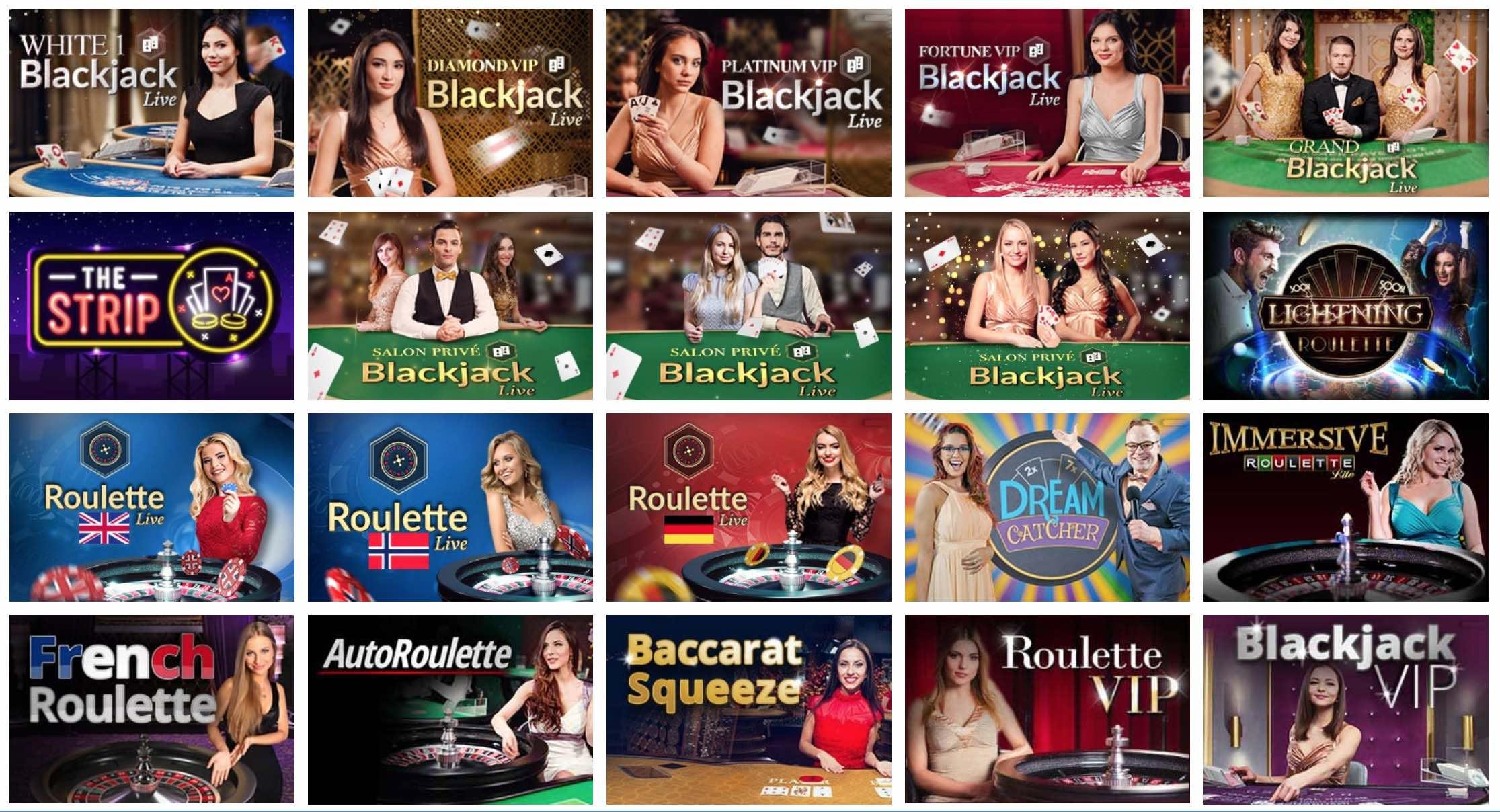 Live Dealer Spiele im Live Casino von Mr.Play