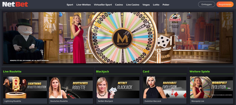 Live Dealer Spiele - Live Casino
