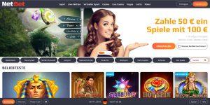 NetBet Casino und Sportwetten Website