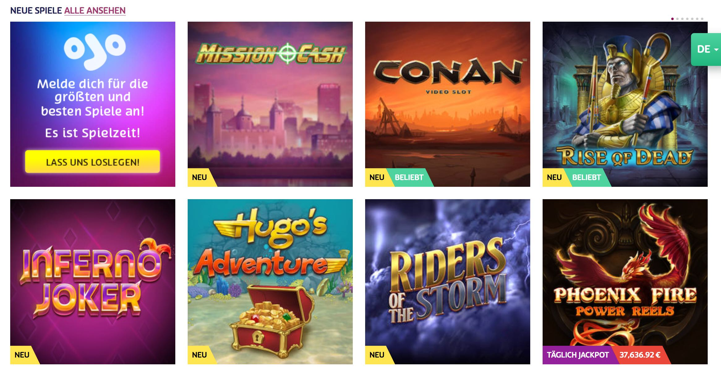 Casino Slots und Spielautomaten