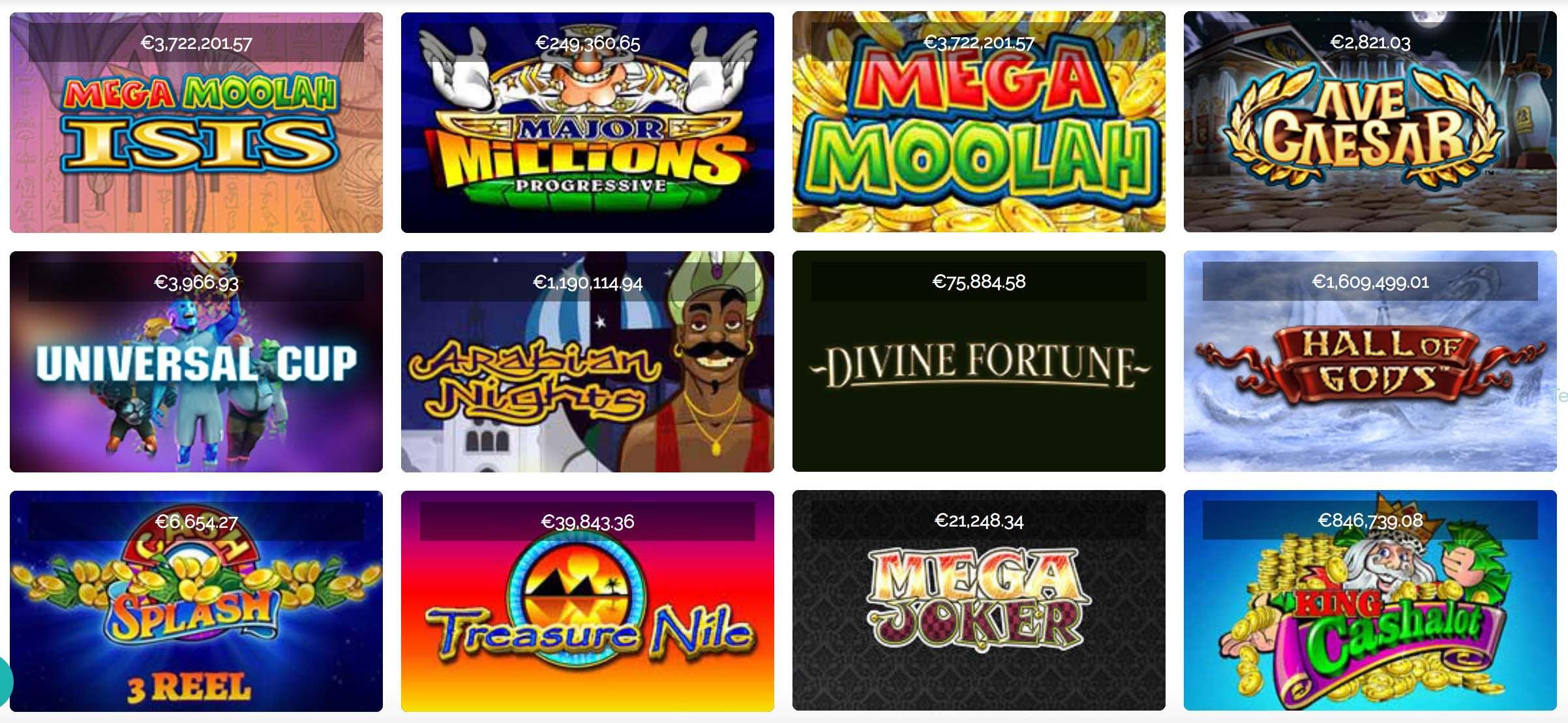 Progressibe Jackpot Slots & Spielautomaten