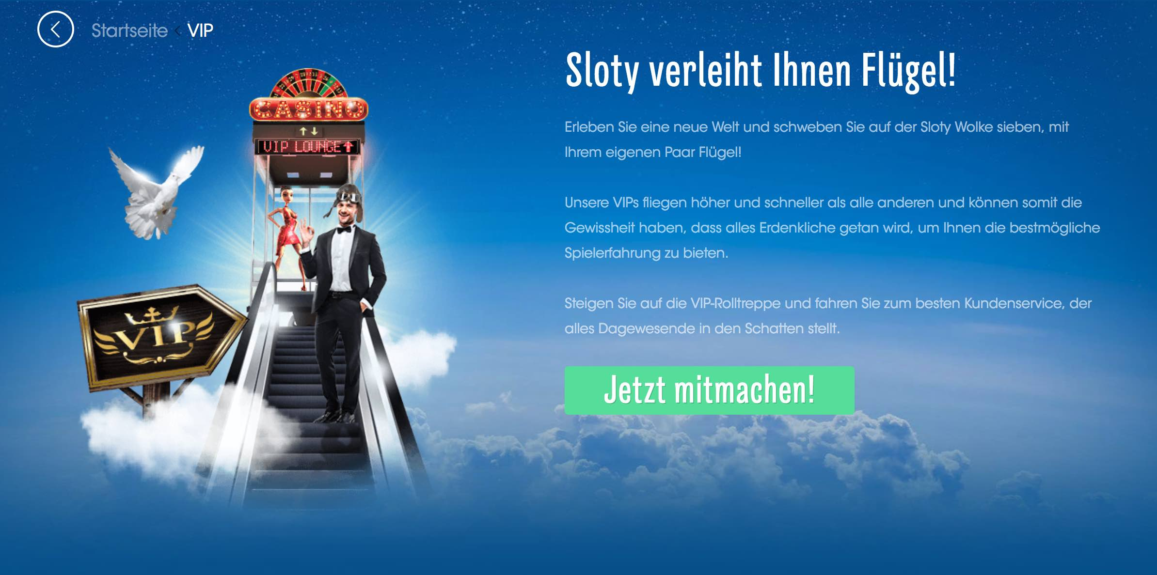 Sloty Casino VIP Programm