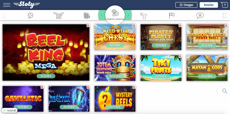 Sloty Jackpot Spielautomaten