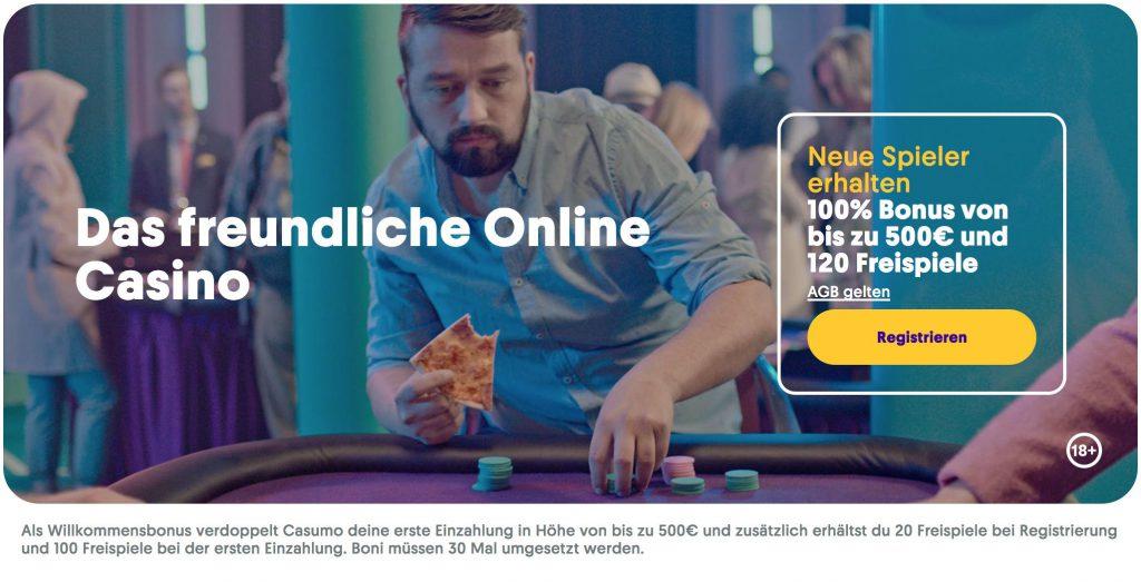 Casumo Bonus - 20 Freispiele und Willkommensbonus