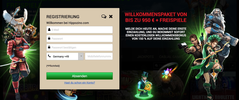 Registrierung im Online Casino