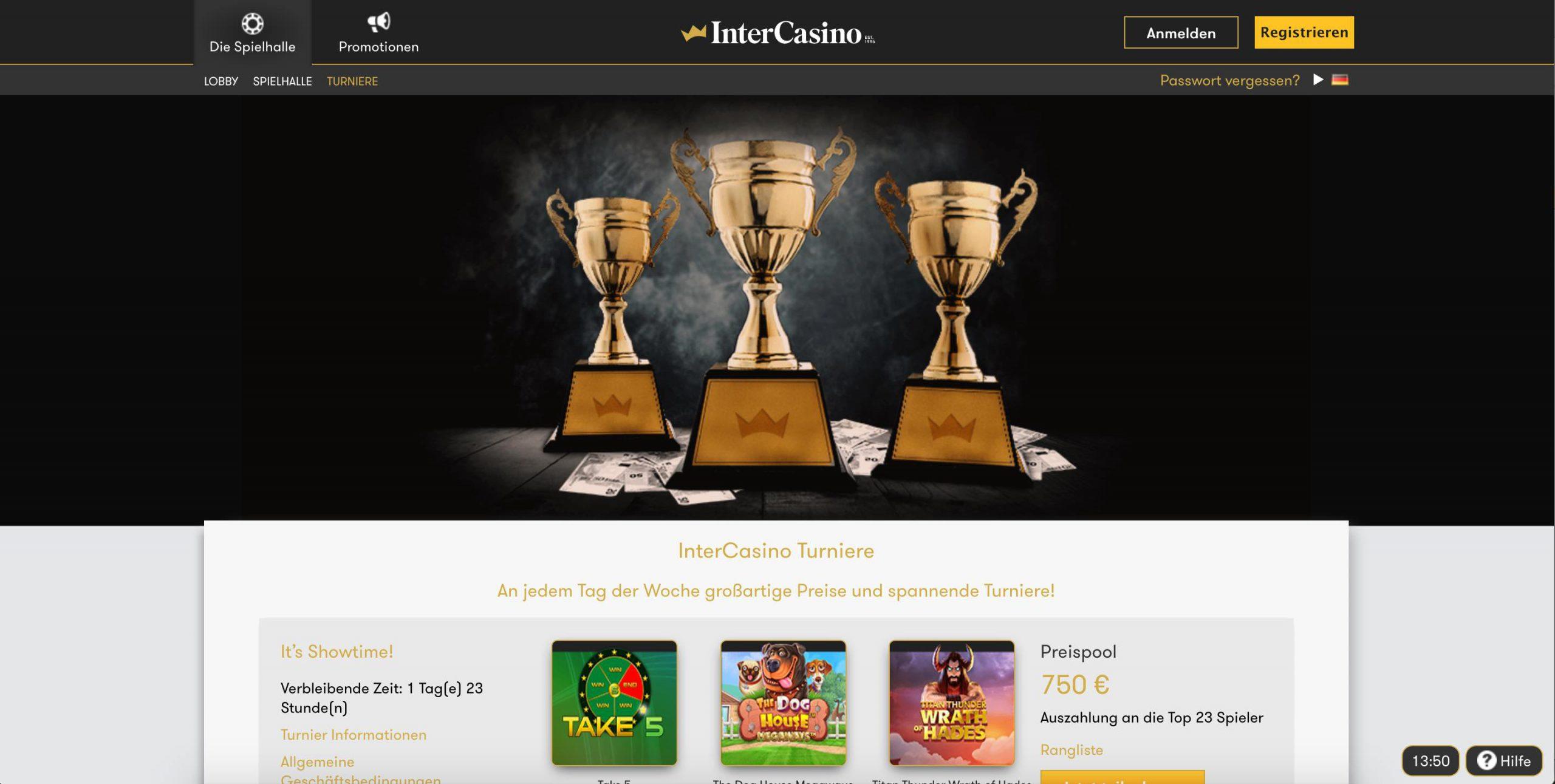InterCasino Turniere
