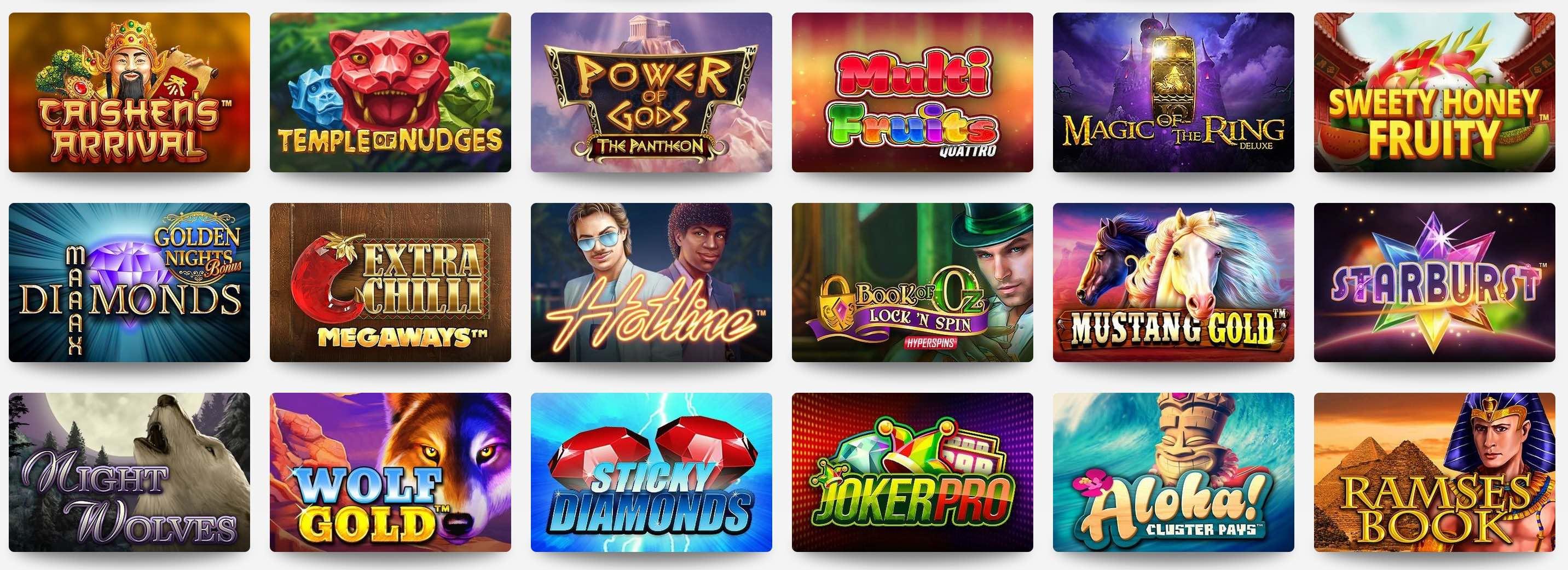 Casino Tischspiele und Spielautomaten Spiele