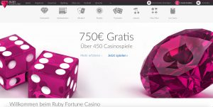 Ruby Fortune Webseite
