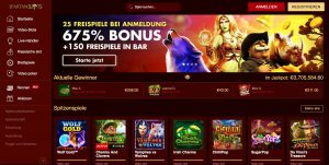 Spartan Slots Homepage