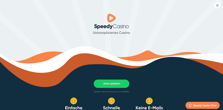 Speedy Casino Webseite