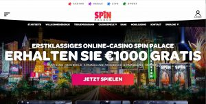 Spin Palace Webseite