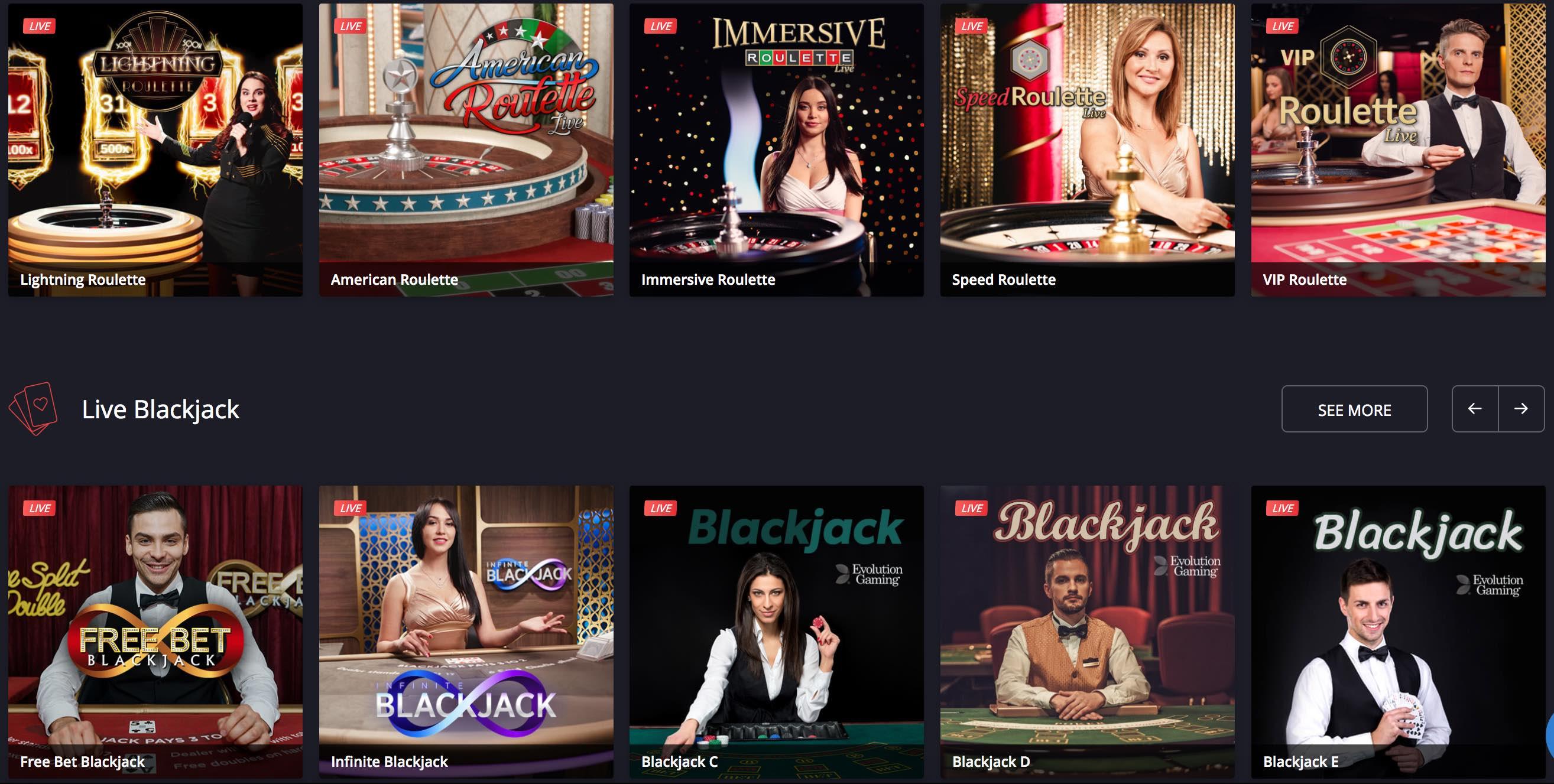 Twin Casino Live Dealer Spiele