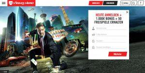 Vegas Hero Webseite