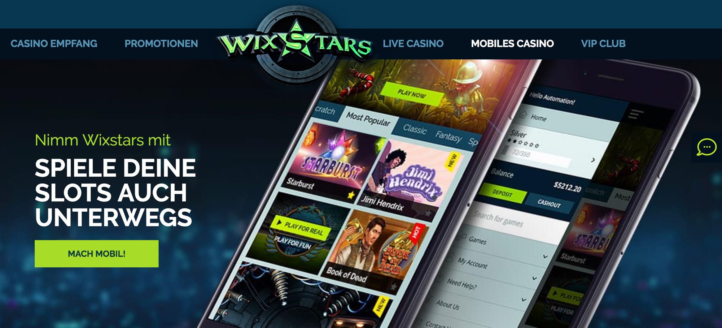 Mobil im Online Casino spielen