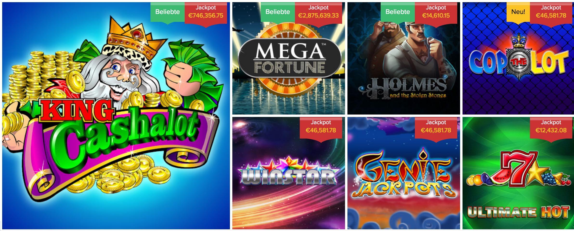 Progressive Jackpot Slot Spiele