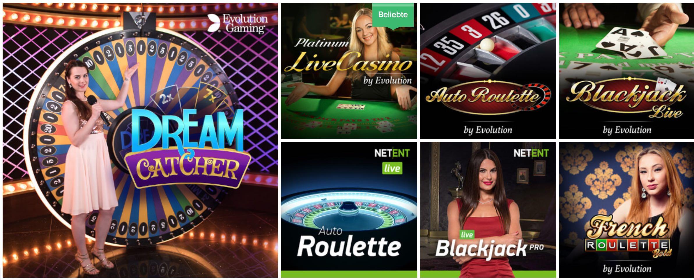 Ahti Casino Live Dealer Spiele