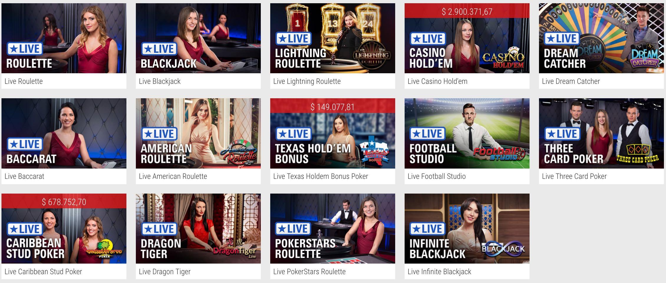 Full Tilt Casino - Live Dealer Games