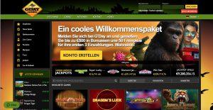 Gday Casino Homepage