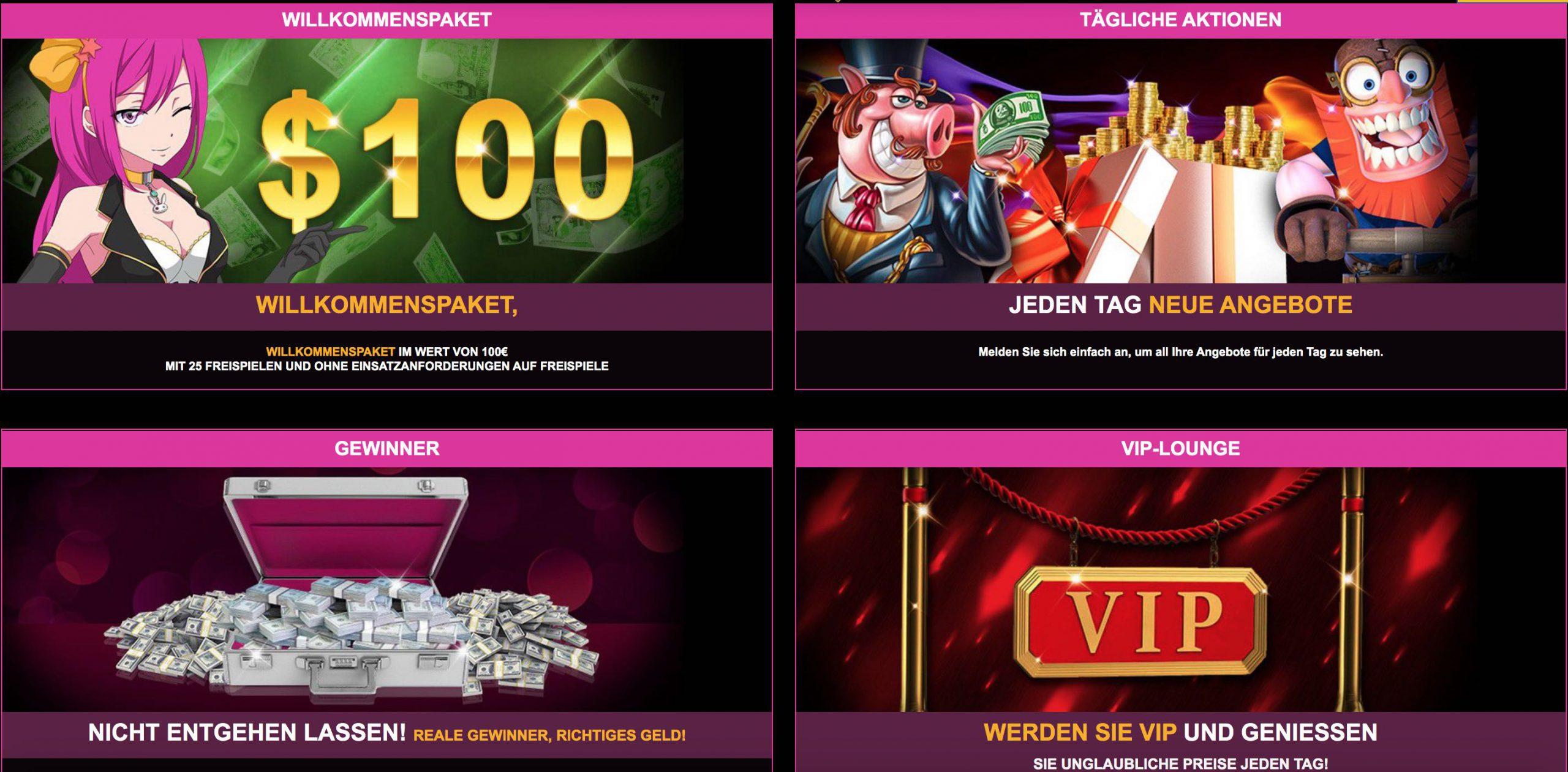 LuckyNiki Bonusangebote und Promotion