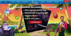 Luna Casino Homepage