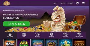 Mummys Gold Homepage