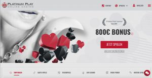 Platinum Play Homepage