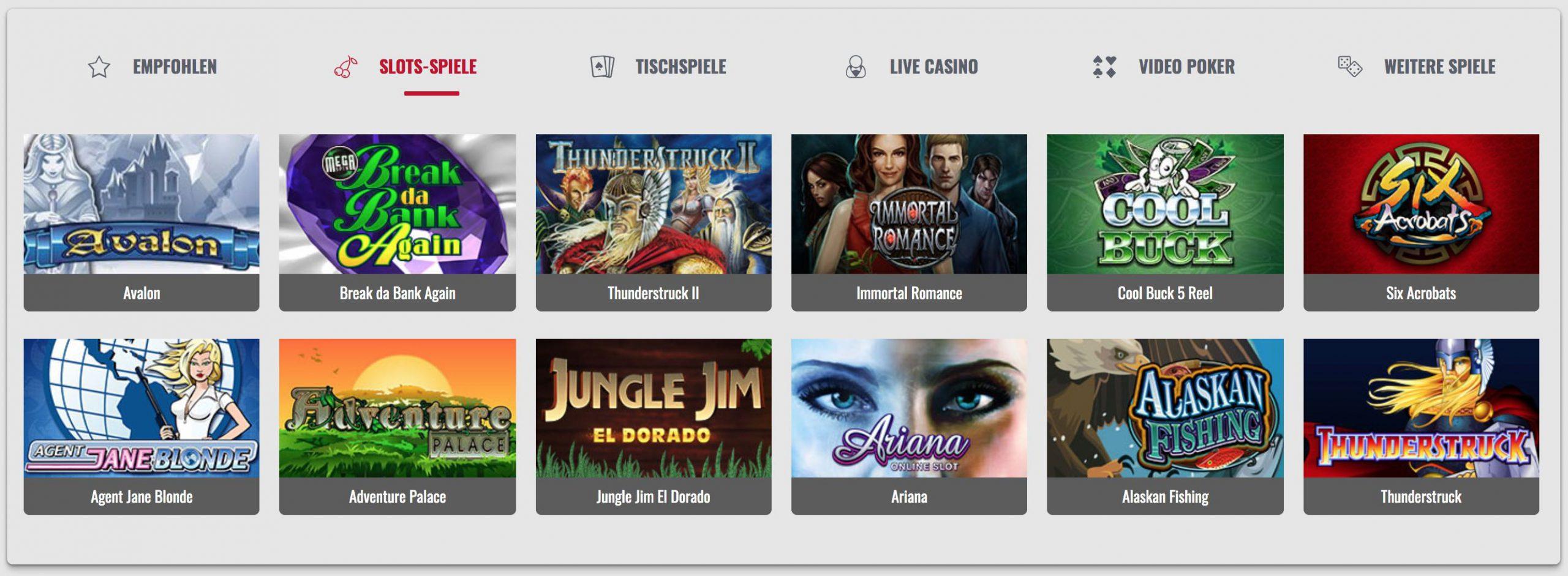 Slot Automaten Spiele