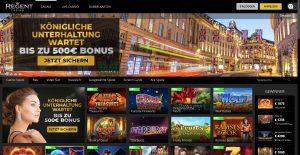 Regent Casino Homepage