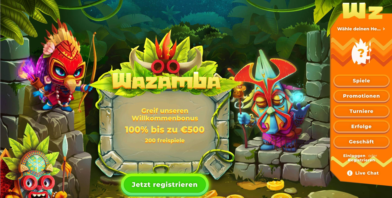 Wazamba Homepage