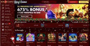 Box24 Casino Homepage