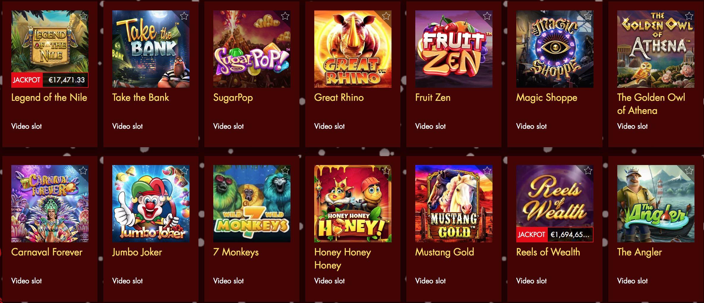 Video Slot Spiele