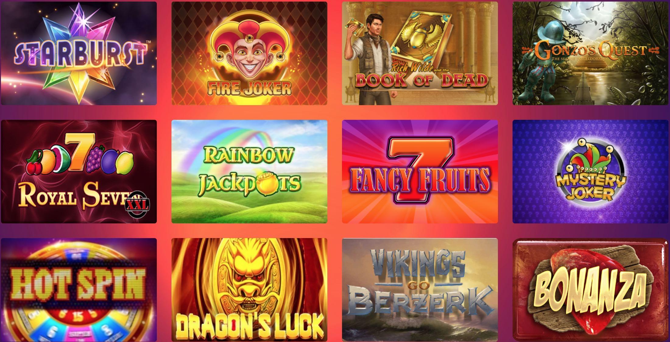 Casino Gods Spielautomaten und Tischspiele