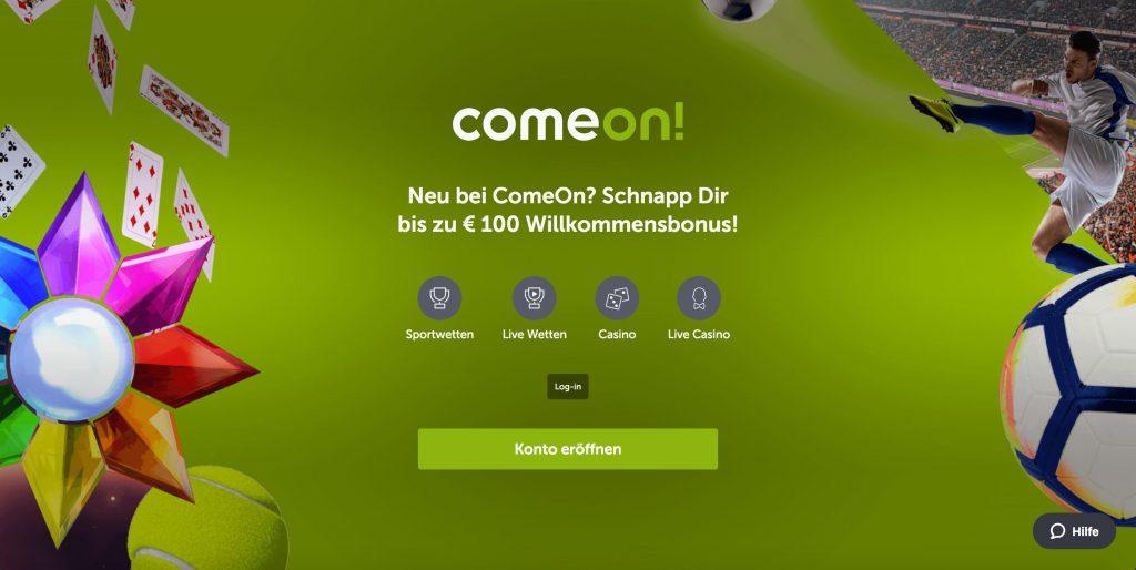 ComeOn Homepage