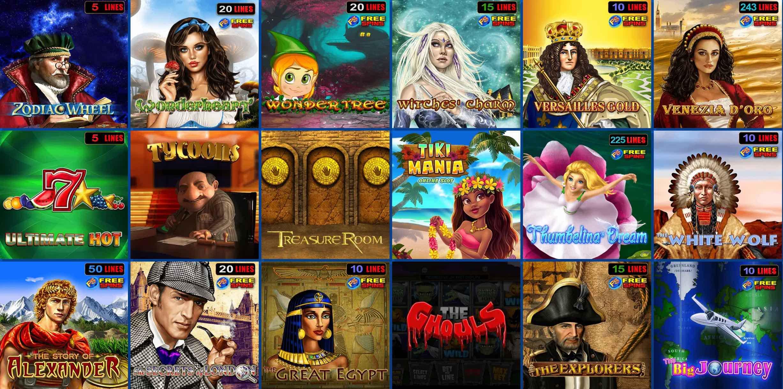 Jackpot Spielautomaten und Spiele